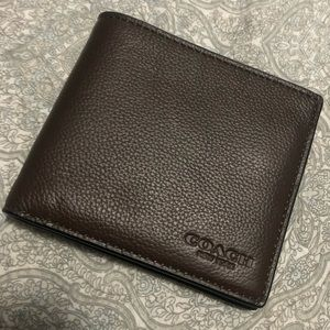 Brown Leather Coach Wallet NWT